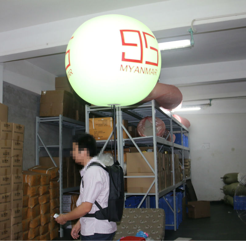 Newest Walking Balloon Advertising PVC LED Backpack In Your Face Media Limited