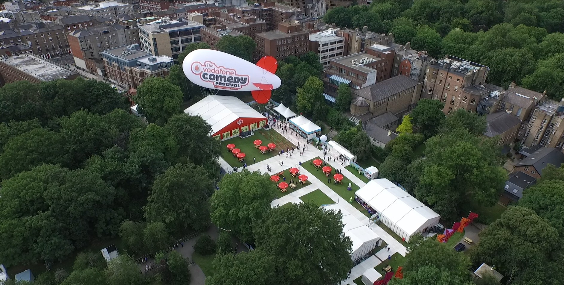 blimp aerial 1 In Your Face Media Limited