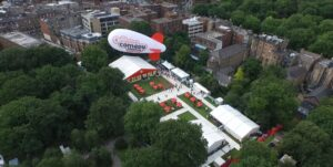 blimp aerial In Your Face Media Limited